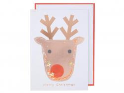 Acheter Carte de voeux rêne Merry Christmas - Meri Meri - 4,49€ en ligne sur La Petite Epicerie - Loisirs créatifs