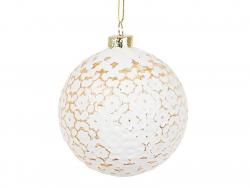 Acheter Boule de Noël blanche et dorée baroque - Sass and Belle - 2,19€ en ligne sur La Petite Epicerie - 100% Loisirs créatifs