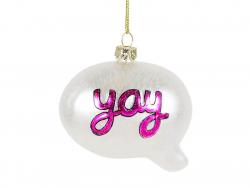 Acheter Boule de Noël argentée bulle Yay - Sass and Belle - 4,29€ en ligne sur La Petite Epicerie - Loisirs créatifs