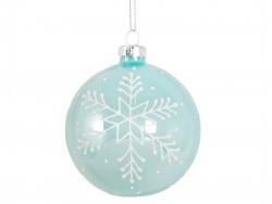 Acheter Boule de Noël bleue et flocons - Sass and Belle - 1,89€ en ligne sur La Petite Epicerie - Loisirs créatifs