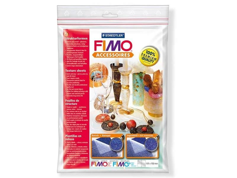 2 Fimo texture sheets - Baroque Style / Art Nouveau