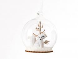 Acheter Boule de Nöel - renard et sapin en bois - Sass & belle - 3,29€ en ligne sur La Petite Epicerie - 100% Loisirs créatifs