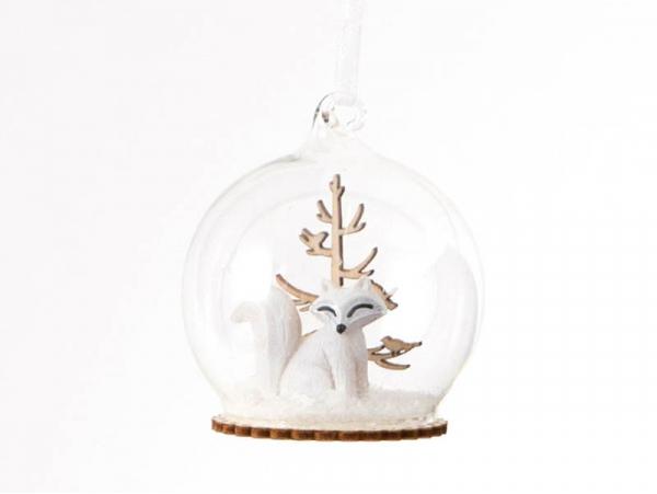 Acheter Boule de Nöel - renard et sapin en bois - Sass & belle - 3,29€ en ligne sur La Petite Epicerie - Loisirs créatifs
