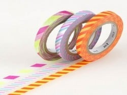 Masking Tapetrio (slim) - Two-coloured, twisted design in trendy colours