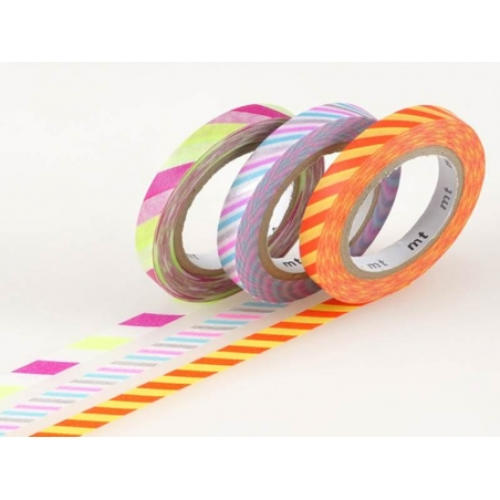 Acheter Masking tape trio slim - bicolore twist pop - 3,99€ en ligne sur La Petite Epicerie - Loisirs créatifs