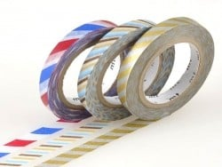 Masking Tapetrio (slim) - Two-coloured, twisted design in metallic colours