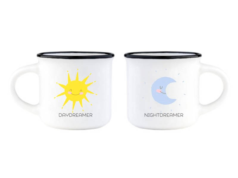 Acheter Mini tasses en porcelaine - Lune & Soleil - 10,99€ en ligne sur La Petite Epicerie - 100% Loisirs créatifs