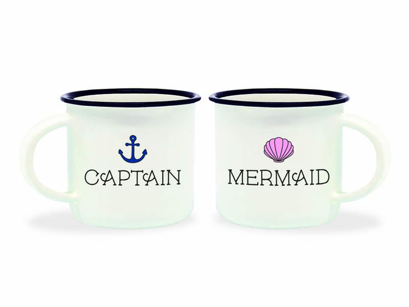 Acheter Mini tasses en porcelaine - Captain & mermaid - 10,99€ en ligne sur La Petite Epicerie - Loisirs créatifs