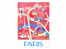 Acheter Magnet carte de Paris - 1,99€ en ligne sur La Petite Epicerie - 100% Loisirs créatifs