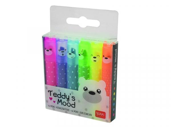 Acheter Lot de 6 mini surligneurs - Teddy's Mood - 4,49€ en ligne sur La Petite Epicerie - 100% Loisirs créatifs