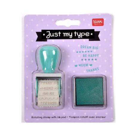 """Acheter Tampon rotatif avec encreur """"Just my type"""" - Legami - 6,49€ en ligne sur La Petite Epicerie - Loisirs créatifs"""