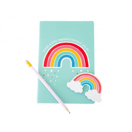 Acheter Carnet A5 Arc-en-ciel - Sass and Belle - 4,49€ en ligne sur La Petite Epicerie - Loisirs créatifs