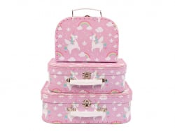 Acheter Lot de 3 valisettes Licorne - Sass and Belle - 22,19€ en ligne sur La Petite Epicerie - Loisirs créatifs