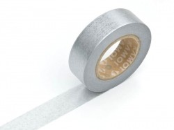 Plain-coloured masking tape - silver