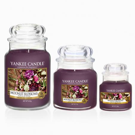Acheter Bougie Yankee Candle - Fleurs au clair de lune / Moonlit Blossoms - Petite jarre - 11,89€ en ligne sur La Petite Epi...