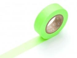 Einfarbiges Masking Tape - neongrün