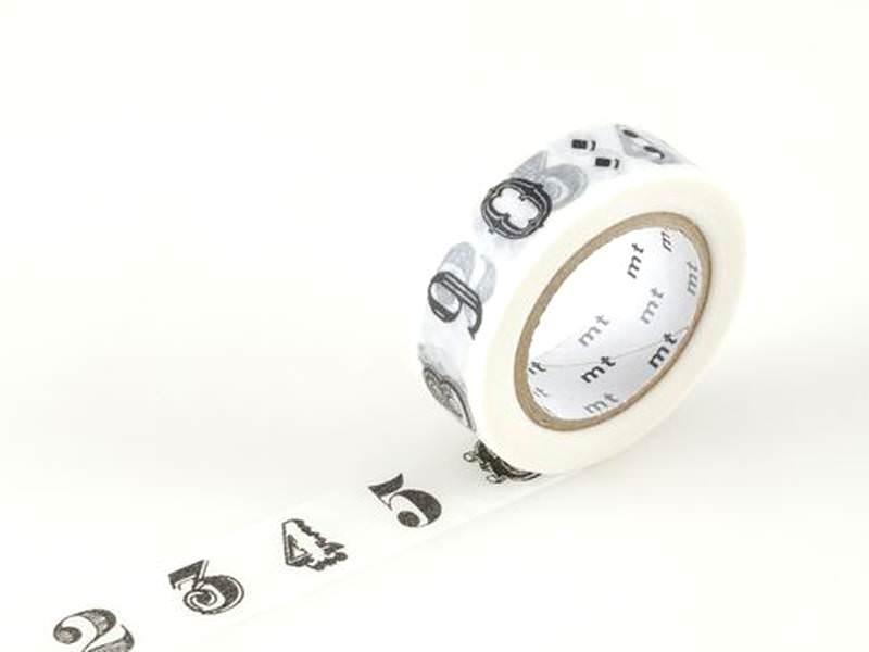 Masking tape motif - chiffres