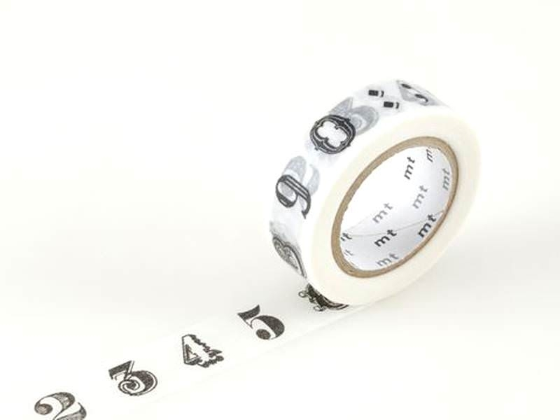 Patterned Masking Tape - Numbers