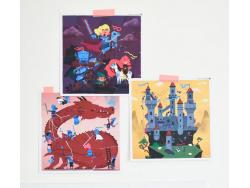 Acheter 3 Sticker Puzzles Dragons et chevaliers - Poppik - 9,79€ en ligne sur La Petite Epicerie - 100% Loisirs créatifs