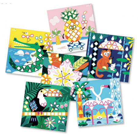 Acheter Mes cartes en stickers - Les animaux tropicaux - Poppik - 6,79€ en ligne sur La Petite Epicerie - Loisirs créatifs