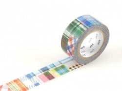Masking tape motif  taille M - patchwork carreaux