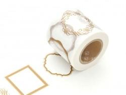 Masking Tape mit Motiv - Größe XL - goldene Rahmen