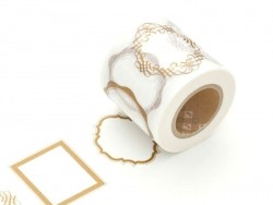 Patterned Masking Tape - Size XL - Golden frames