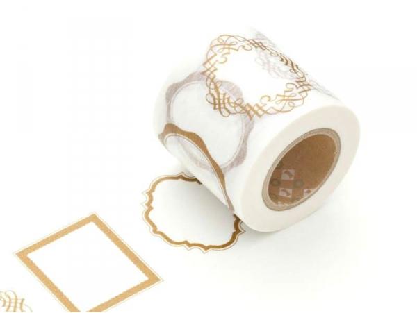 Masking tape motif  taille XL - cadres dorés