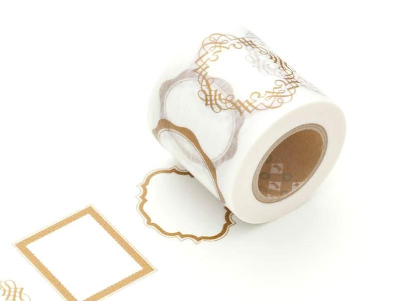 Patterned Masking Tape - Size XL - Golden frames