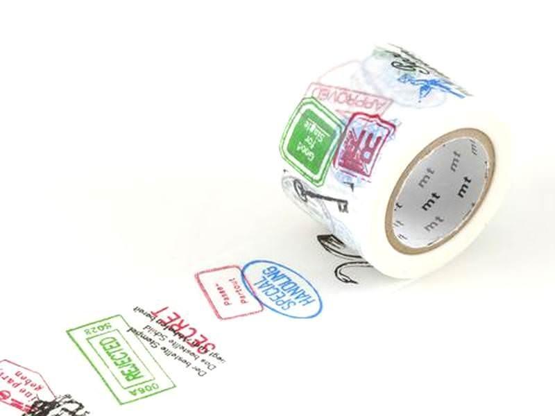 Patterned Masking Tape - Size L - Stamps