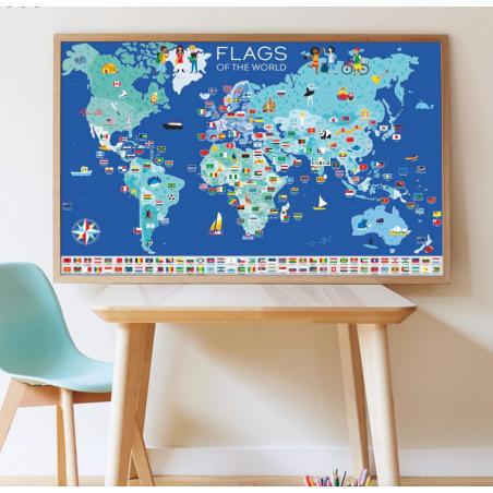 Acheter Mon poster Drapeaux du monde - Poppik - 16,79€ en ligne sur La Petite Epicerie - Loisirs créatifs