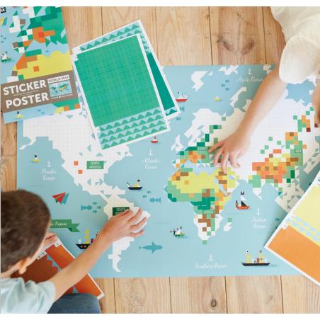 Acheter Mon poster Carte du monde - Poppik - 15,79€ en ligne sur La Petite Epicerie - Loisirs créatifs