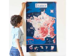 Acheter Mon poster Carte de France - Poppik - 15,79€ en ligne sur La Petite Epicerie - 100% Loisirs créatifs