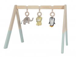Acheter Arche d'éveil en bois avec jouets - menthe - 42,99€ en ligne sur La Petite Epicerie - 100% Loisirs créatifs