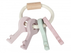 Acheter Trousseau de clés en bois - rose - Little Dutch - 8,99€ en ligne sur La Petite Epicerie - 100% Loisirs créatifs