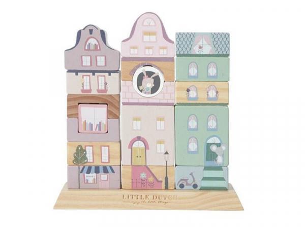 Acheter Façade à empiler - rose - Little Dutch - 16,99€ en ligne sur La Petite Epicerie - Loisirs créatifs