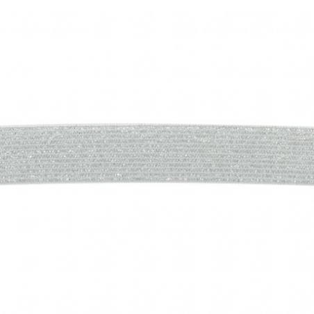 Acheter Elastique Lurex argenté / blanc 20 mm - 1,99€ en ligne sur La Petite Epicerie - 100% Loisirs créatifs