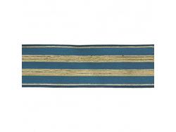 Acheter Elastique bleu jean à rayures en lurex doré 30 mm - 4,49€ en ligne sur La Petite Epicerie - Loisirs créatifs