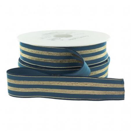 Acheter Elastique bleu jean à rayures en lurex doré 30 mm - 4,49€ en ligne sur La Petite Epicerie - 100% Loisirs créatifs