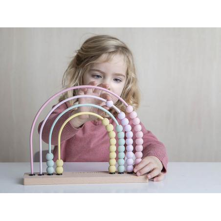 Acheter Arc en ciel boulier - rose - Little Dutch - 14,99€ en ligne sur La Petite Epicerie - Loisirs créatifs