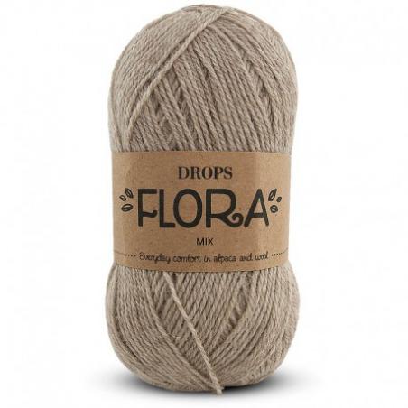 Acheter Laine Drops - Flora - 07 beige - 2,80€ en ligne sur La Petite Epicerie - Loisirs créatifs