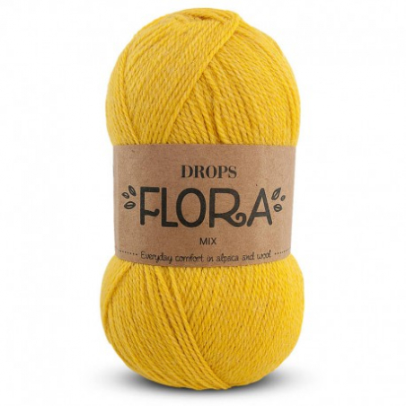 Acheter Laine Drops - Flora - 17 jaune - 2,80€ en ligne sur La Petite Epicerie - Loisirs créatifs