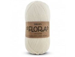 Acheter Laine Drops - Flora - 01 naturel - 2,65€ en ligne sur La Petite Epicerie - Loisirs créatifs