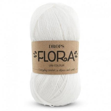 Acheter Laine Drops - Flora - 02 blanc - 2,65€ en ligne sur La Petite Epicerie - Loisirs créatifs