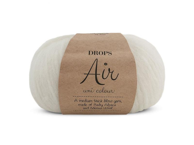 Acheter Laine Drops - Air - 01 naturel (uni) - 5,60€ en ligne sur La Petite Epicerie - Loisirs créatifs