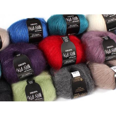 Acheter Laine Drops - Kid Silk - 31 mauve - 4,50€ en ligne sur La Petite Epicerie - Loisirs créatifs