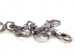 1 Schlüsselring mit Karabinerverschluss