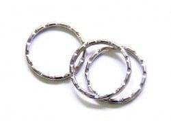 1 anneau à porte clefs - cranté  - 1