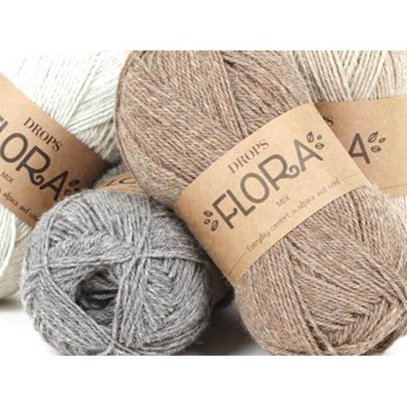 Acheter Laine Drops - Flora - 01 naturel - 2,50€ en ligne sur La Petite Epicerie - Loisirs créatifs