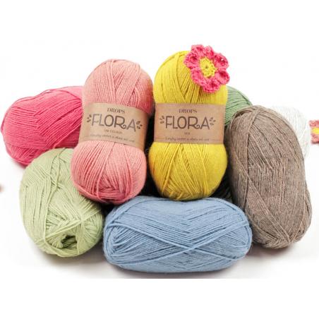 Acheter Laine Drops - Flora - 03 gris clair - 2,80€ en ligne sur La Petite Epicerie - Loisirs créatifs